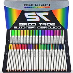 platinum soft core colored pencils with tin