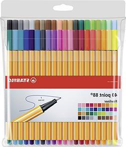 wallet of 40 colours 8840-1 STABILO point 88 fineliner
