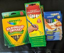 Crayola Prang My First LOT Easy Grip Colored Pencils Triangl