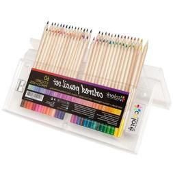 Colored Pencils Pre-Sharpened Pencil Set with Eraser and Sha