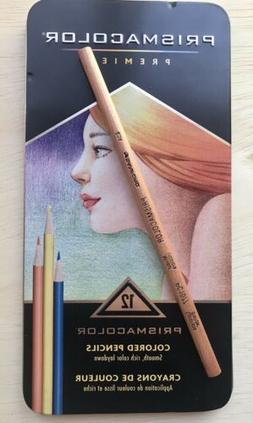 Prismacolor Premier Colored Pencil Set Of 12 + Colorless Ble