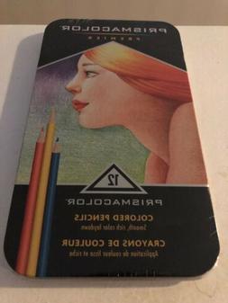 Prismacolor Premier, Colored Pencils, Soft Core, 12 Count, T