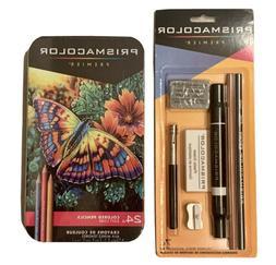 Prismacolor Premier Colored Pencils Soft Core 24 Ct. & 7 Pie
