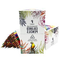 Parrot Premier 72ct Colored Pencils, Soft Core, Triangular-S