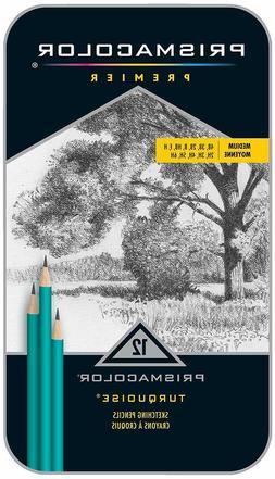 Prismacolor Premier Turquoise Graphite Pencils - 4B, 3B, B,