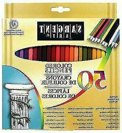 Sargent Art Premium Coloring Pencils, Pack of 50 Assorted Co