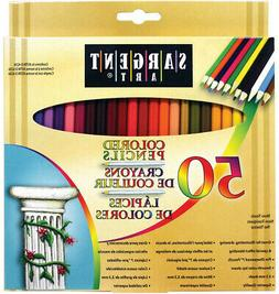 Sargent Art Premium Coloring Pencils, Pack of 50 Assorted Co