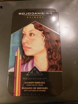 prismacolor premier artists colored pencils tin set