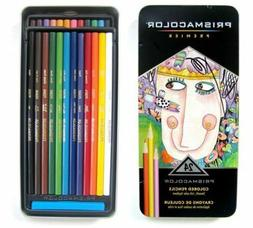PRISMACOLOR Premier Colored Pencil Travel Tin Set 24 Soft Co
