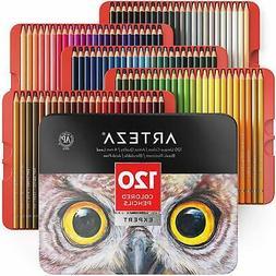 Professional Colored Pencils Set Of 120 Colors Soft Wax Base