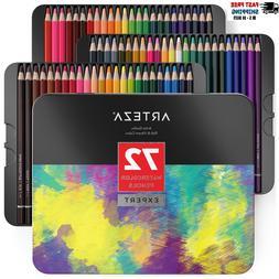 ARTEZA Professional Watercolor Pencils Set of 72 Multi Color