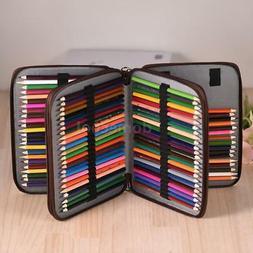 PU Leather Bag Color Pencil Pen Case Pouch  136 Slot Holder