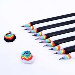 Rainbow Black&White Wood Set Rainbow Pencils School Office S