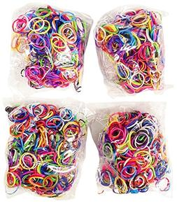 Bluedot Trading 2400-Piece Multicolor Rubber Band Kids Craft