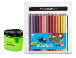 Prismacolor Scholar Colored Pencils 48 Assorted Colors  + Pr