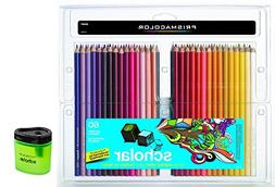 Prismacolor Scholar Colored Pencils 60 Assorted Colors  + Pr