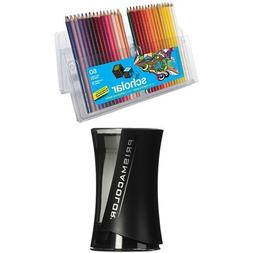 Prismacolor Scholar Colored Pencils, 60 Pack with Pencil Sha