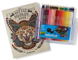 Prismacolor Scholar Colored Pencils, 48 Pack and Tattoo Adul