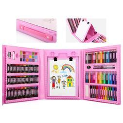 176 Pcs Art Set, Zooawa Sketching and Drawing Handle Art Box