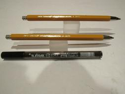 Set of 2 Koh-I-Noor 5205 Mechanical Clutch Pencil with Sharp