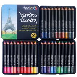 Set of 72 - Soft Series Lead Pencils Multi Colored Art Drawi