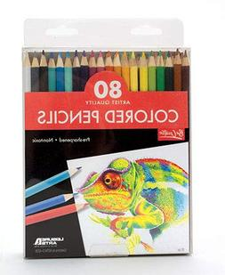 80 Pack Pre-Sharpened Colored Pencils-Heavily pigmented for