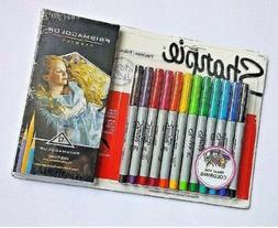 Sharpie Pens and PrismaColor Verithin Premier Colored Pencil