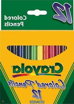 Crayola Short Barrel Colored Pencils Assorted Colors 12/Box