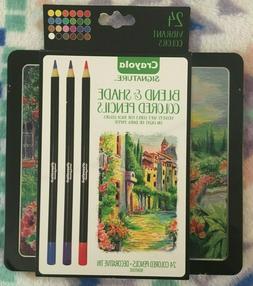 Crayola Signature Blend and Shade colored pencils 24 set vib