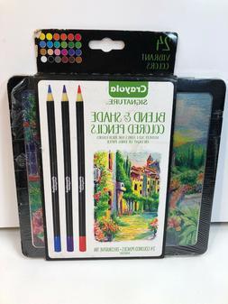 Crayola Signature Blend & Shade Colored Pencils- Set of 24 C