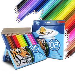 Thornton's Art Supply Soft Core 50 Piece Artist Grade Colore