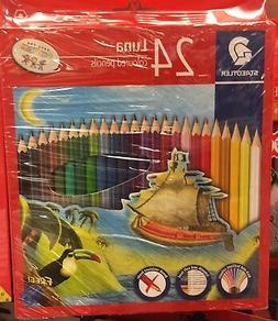 Staedtler Luna 24 Colours Pencils coloured Pen