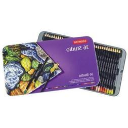 Derwent Studio Colored Pencils 3.4 mm Core Tin box 36 Count