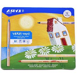 LYRA Super Ferby Giant Triangular Colored Pencils, Unlacquer