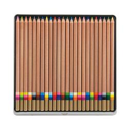 Koh-I-Noor Tri-Tone Multi-Colored Pencil Set, 24 Assorted Co