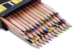 Solabela Triangular Cedar Wood Colored Pencils Artist Set, S
