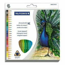 Triangular Colored Pencil Set, H/#3, 2.9mm, 24 Assorted Colo