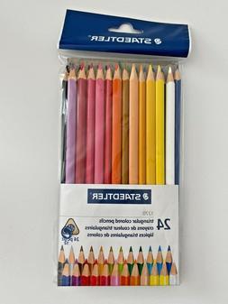 Staedtler Triangular Colored Pencils 24 Pack Ergonomic Shape