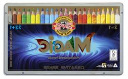 KOH-I-NOOR Triangular Magic Multicolored Pencils 23 pcs + bl