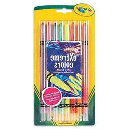 Crayola Twistable Crayons, 8 Neon Colors/Set, Case of 2 Sets