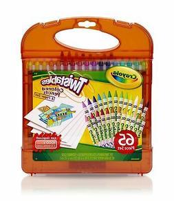 Crayola Twistables 65-Piece Colored Pencils and Paper Set