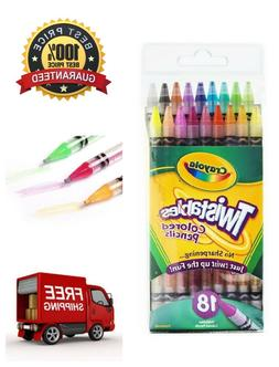 Crayola Twistables Colored Kids Pencils 18 Count No Sharpeni