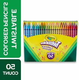Crayola Twistables Colored Pencils Coloring Set, Gift Age 3