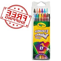 Crayola Twistables Erasable Colored Pencils Assorted Colors