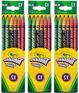Twistables Colored Pencils, 12 Assorted Colors/Pack