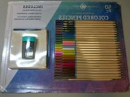 UBrands Superior Quality 48 Colored Pencils 2-Hole Pencil Sh