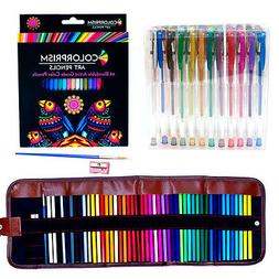 Ultimate Adult Coloring Set: 48 Vibrant Colored Pencils + 48