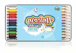 NPW Unicorn Sparkle Color Pencils In A Travel/Storage Tin, 1