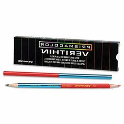 Prismacolor Verithin Double-Ended Colored Pencils, Blue/Red,