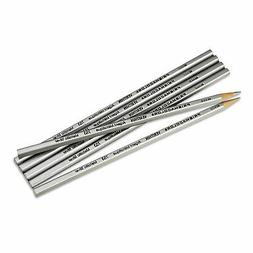 Verithin Colored Pencils, Metallic Silver, Dozen